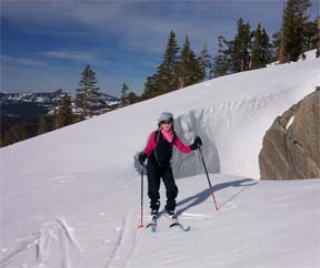 Image of skier exploring north of Basin Peak