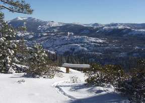 Image from overlook in winter