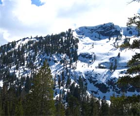 Image of Echo Peak from Angora Lakes