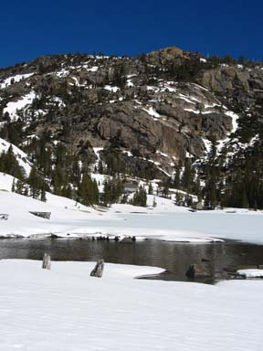 Image of open water at west end of Lower Echo Lake