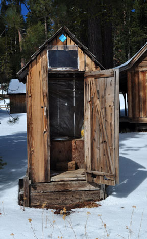 Image of outhouse at Aspen Meadow