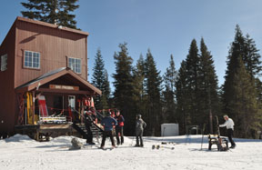 Image of the ski patrol building at The Knob