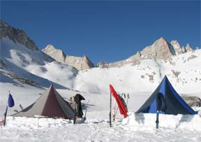 Image of two Megamid tents